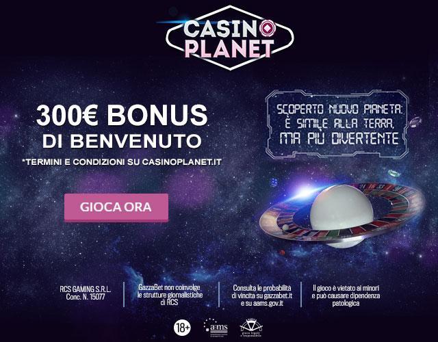 Casino Planet bonus code