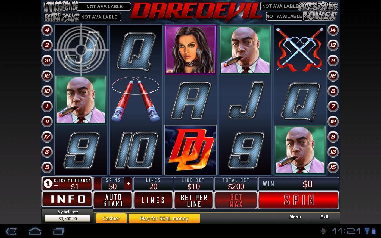 gioca gratis a daredevil slot machine