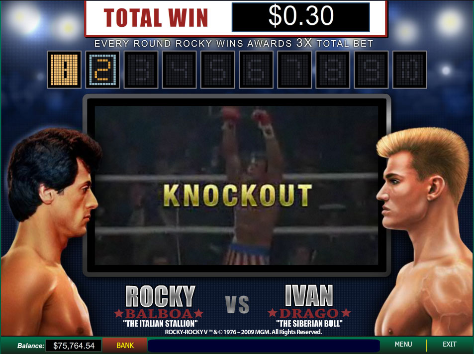 gioca gratis a rocky slot machine full screen