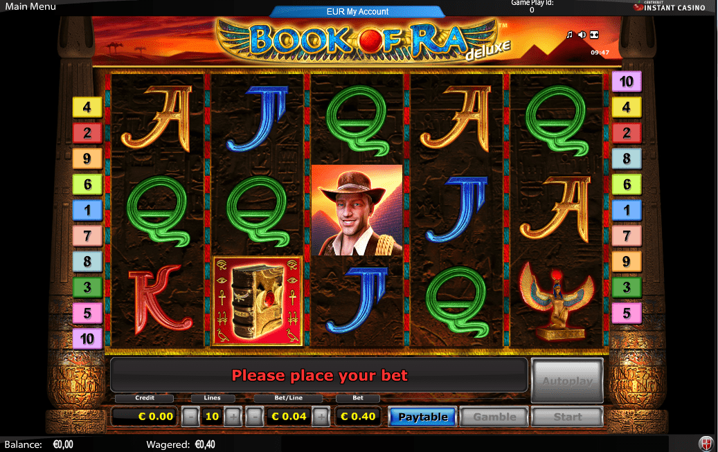 online casino poker book of raa