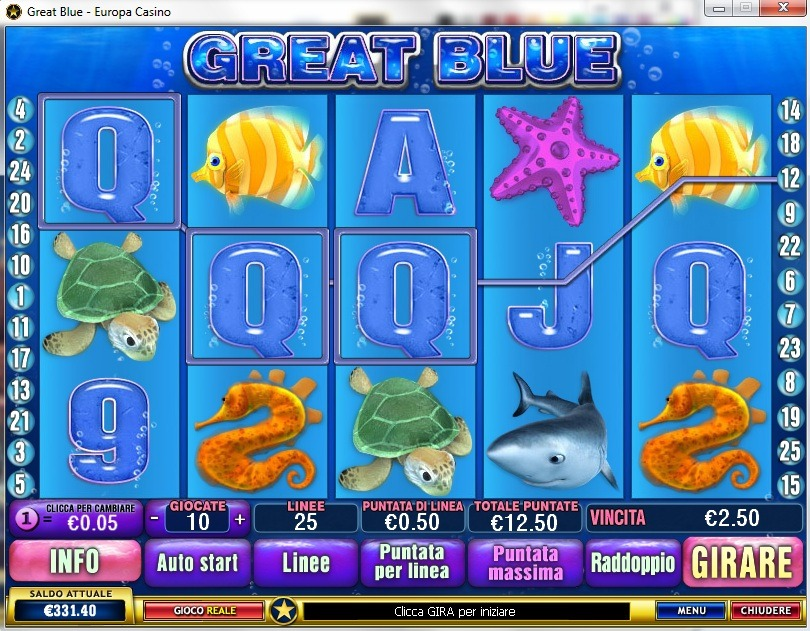 Gioca a Great Blue su Casino.com Italia