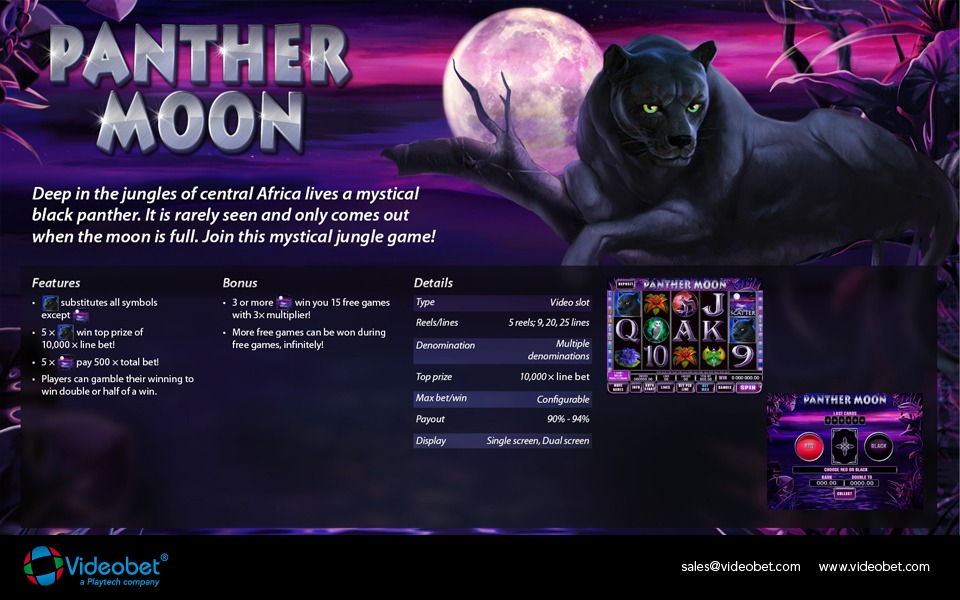 slot machine panther moon gratis
