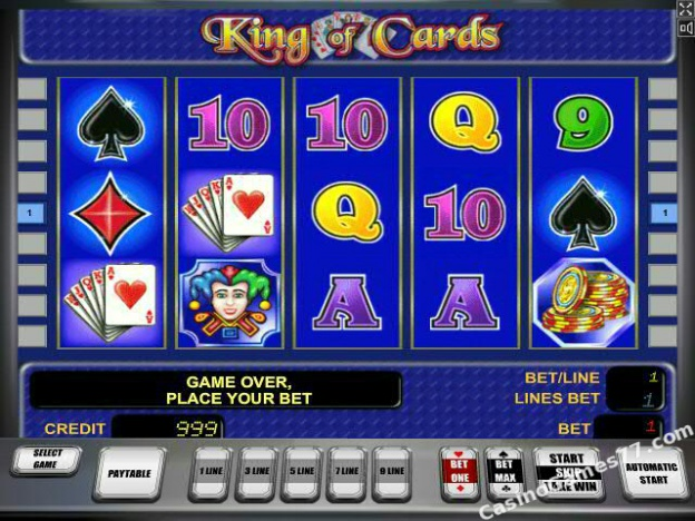 online slots casino king of cards