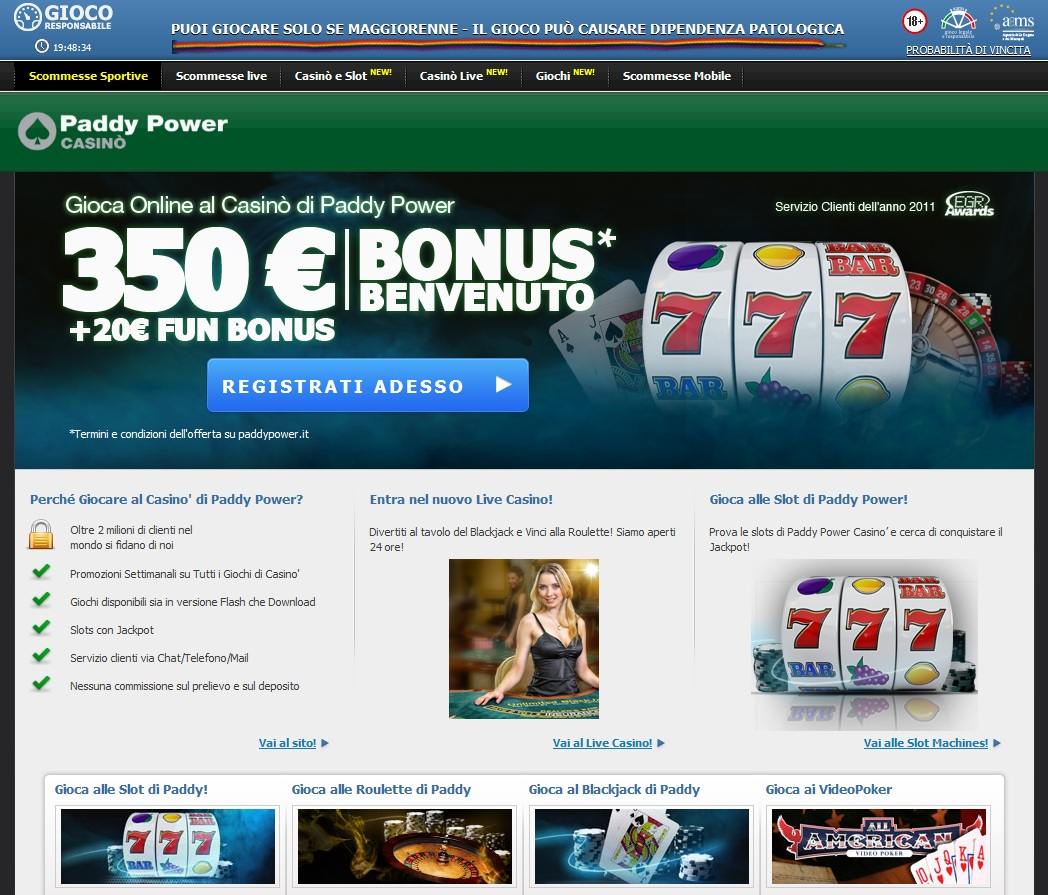 paddypower casino gratis
